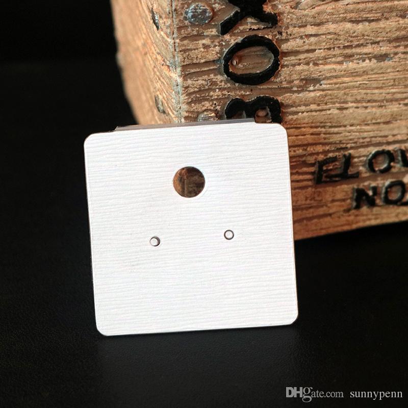 Оптовая 200 шт. / лот мода ювелирные изделия дисплей упаковка карты, 4 * 4.5 см белый пластик ПВХ карты подходят для серьги упаковка Бесплатная доставка