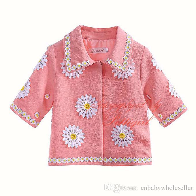 49cdb6779d09a Pettigirl Hot Sale Flower Pattern Cute Baby Girls Coats Autumn Wear  Wholesale Pink Fashion Children Outerwear OC90225 646F Boys Duffle Coat  Girls Winter ...