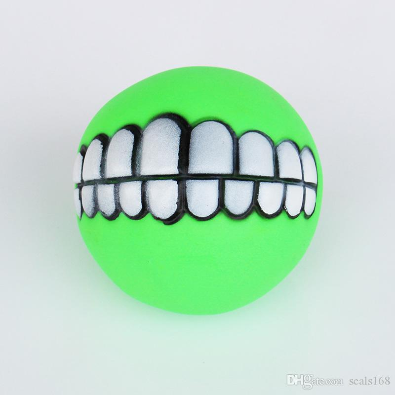 Pet Cat Puppy Dog Chews Toys Funny Ball Teeth Silicon Chew Heavy Thickened Speelgoed Halloween XMAS Teeth Play Ball Toys HH-T60