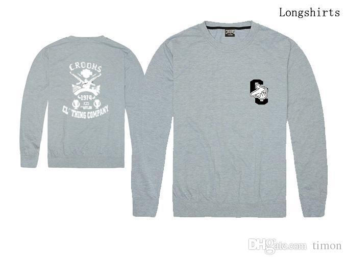 Ladrones y los castillos camisetas de los hombres de moda Ropa de Hombre de manga larga de cuello redondo de la marca de los hombres camisa de envío libre ocasionales de los deportes