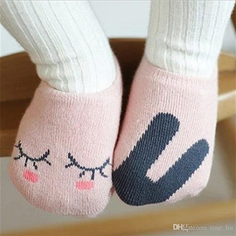 14 Estilo 2019 Bebê raposa meias de algodão Curto 0-4Years Meninos meninas de algodão dos desenhos animados adorável raposa coelho panda tarja Animal Imprime meias B