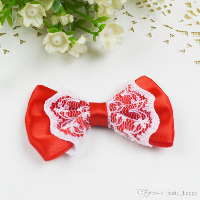 Giappone e Corea del Sud colore della miscela di nastro di raso si piega con fiori del merletto sposa Appliques bambini Bowknot tornante decorazioni di nozze
