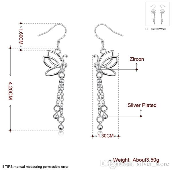 Hot sale New arrival flower fashion 925 earrings STPE003,Best gift women's sterling silver Dangle Chandelier earrings
