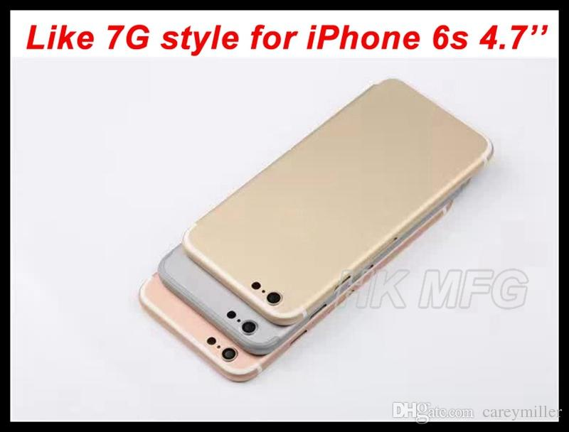 For iPhone 7 design Metal Back housing for iPhone 6s 6S 4.7'' Alloy Battery door Back cover Change your 6s to 7G