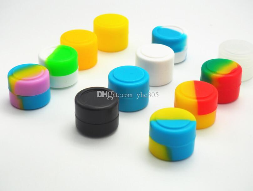 Stock aux Etats-Unis! 200 x couleurs assorties contenant de cire de silicone antiadhésif petit récipient rond en silicone 2ml