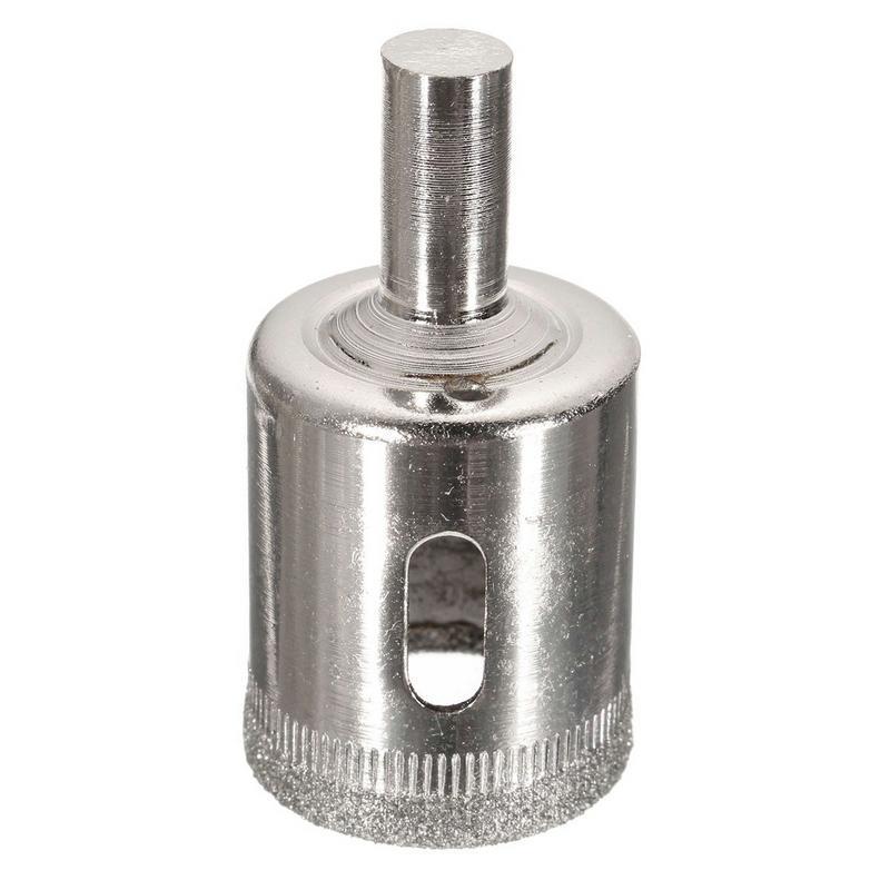 DHL 20Set 15pcs/set 6mm-50mm Diamond Coated Hole Saw Drill Bit Cutter Core Shaft Tool Kit for Ceramic Porcelain Glass Marble 6-50mm