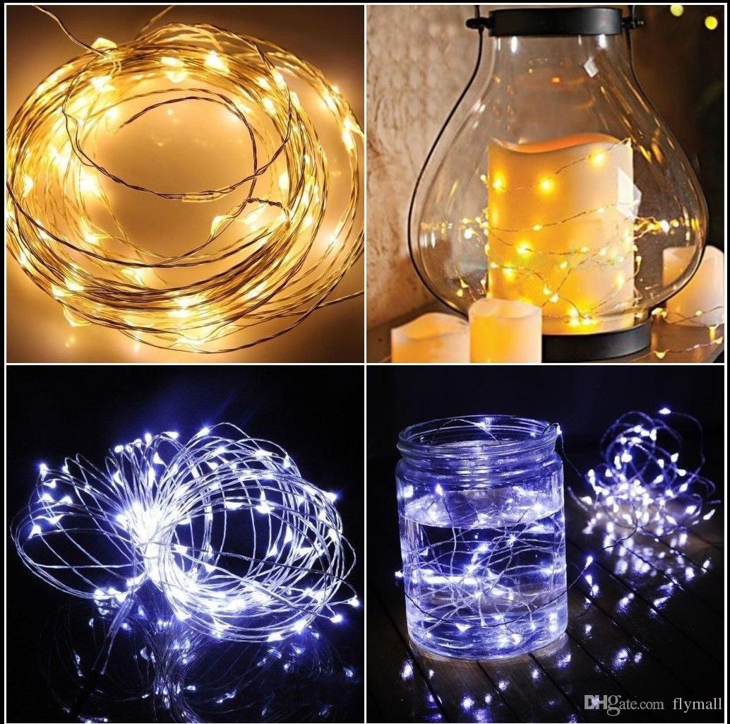 CR2032 Battery Operated 2M 20LEDS Micro Led Fairy String Light Copper Wire Led String Holiday Light Christmas Wedding Party Decorations