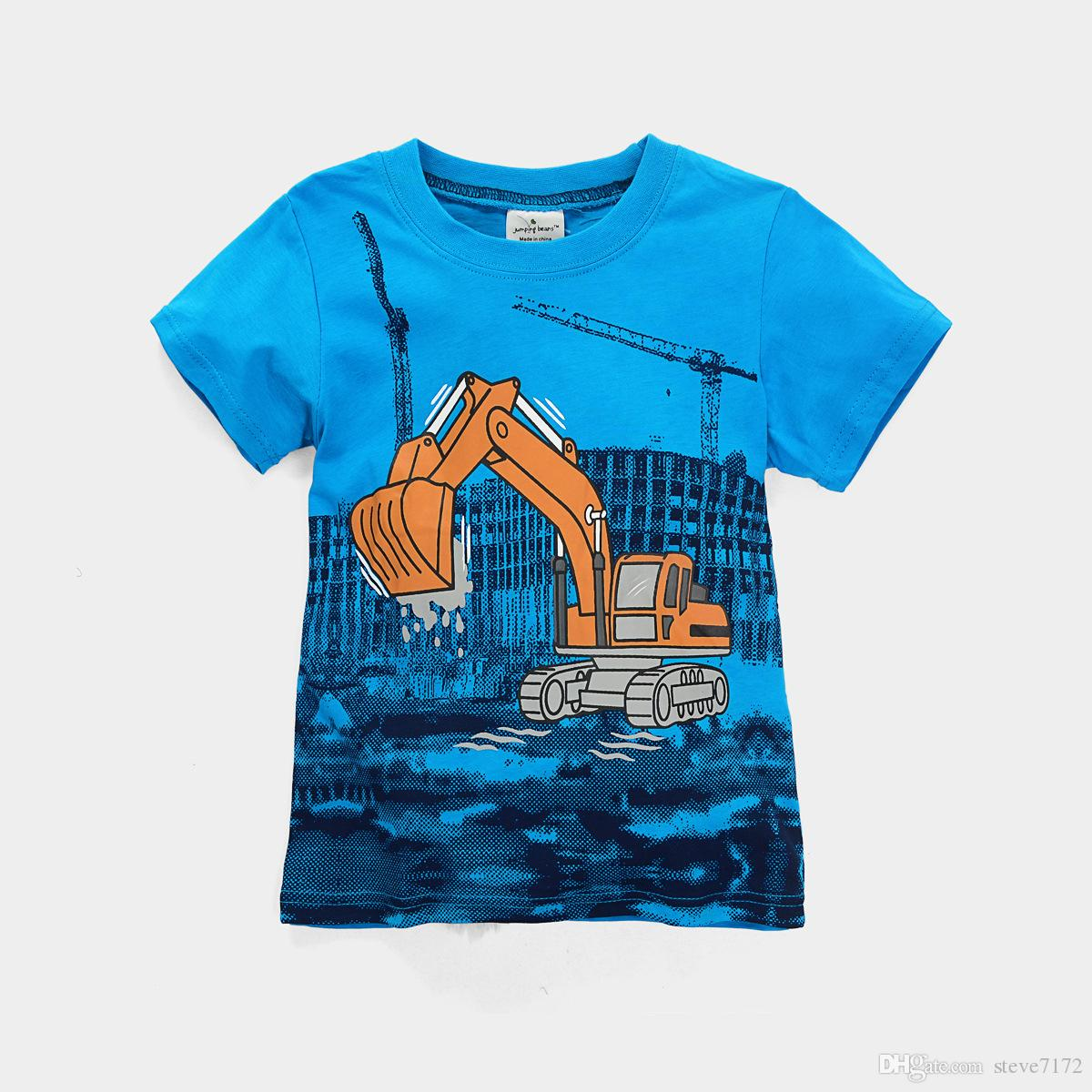 4132b265 Digger Children t-shirts jumping beans boys clothes short sleeve tee shirts  tops kids polo shirt tops 2-6years baby boy clothes