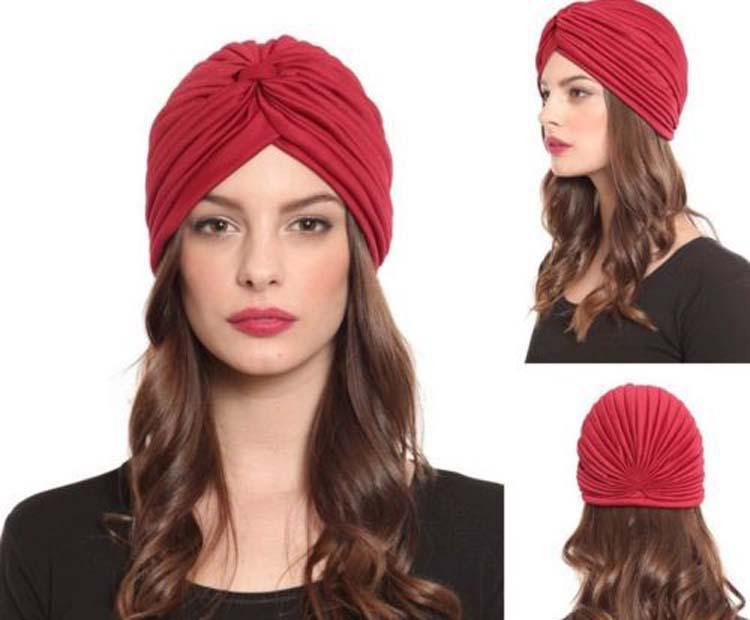 Turban Headband Elastic Sports Wide Women Twist Headband Bandana Hair  Accessories Chemo Bandana Hijab Pleated Indian Cap Hats For Sale Hats  Online From ... 90a96aa3bc9