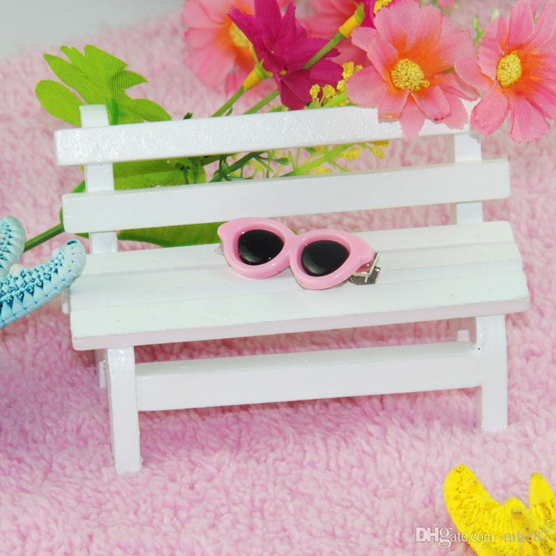 Colorful Pet Dog Sunglasses Hair Clips Cute Doggy Puppy Hairpin Grooming Supplies Teddy Hair Accessory Cat Hair Ornaments