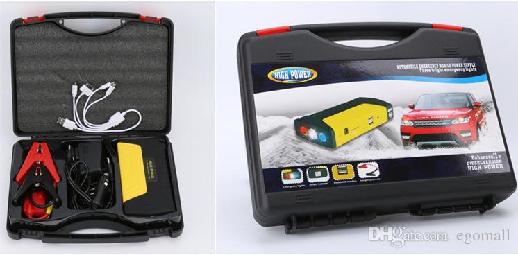 50800mah автомобиль прыжок стартер высокой емкости аккумулятор зарядное устройство для автоматического запуска автомобиля и Банк питания для смартфонов ноутбук бесплатно DHL