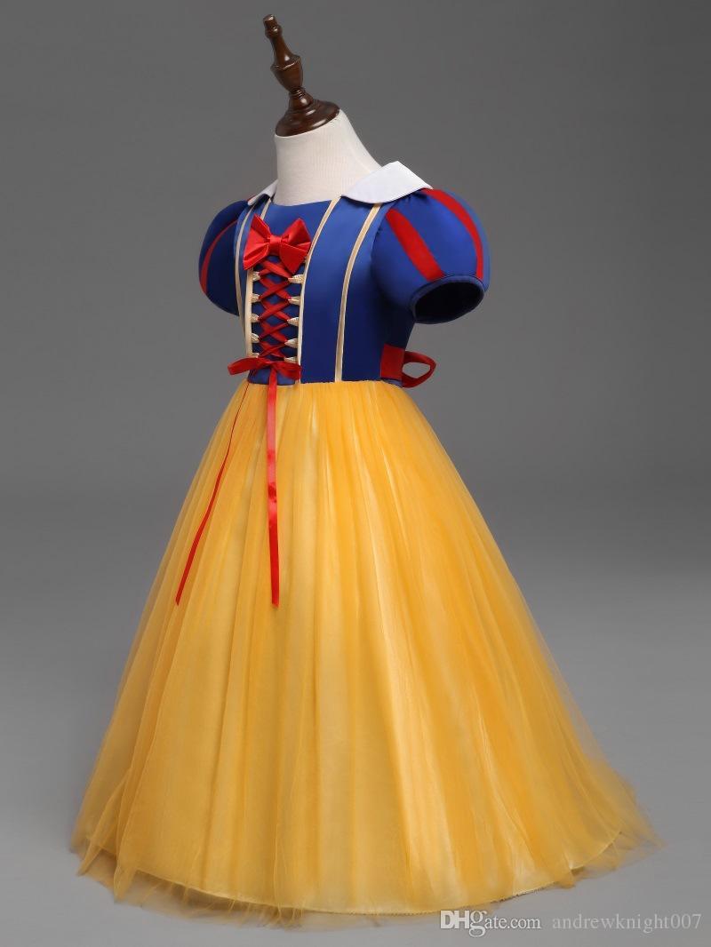 Элегантный новый летний девушки Принцесса платья дети девушки Хэллоуин Рождество косплей платья костюм детская девушка одежда DK1033CR