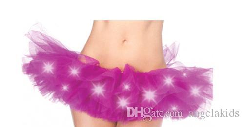Gonna tutu di danza tuta colorata con gonne a led Costume con gonne a led colorate Tutu gonna neon fantasia fancy arcobaleno fantasia mini tutu