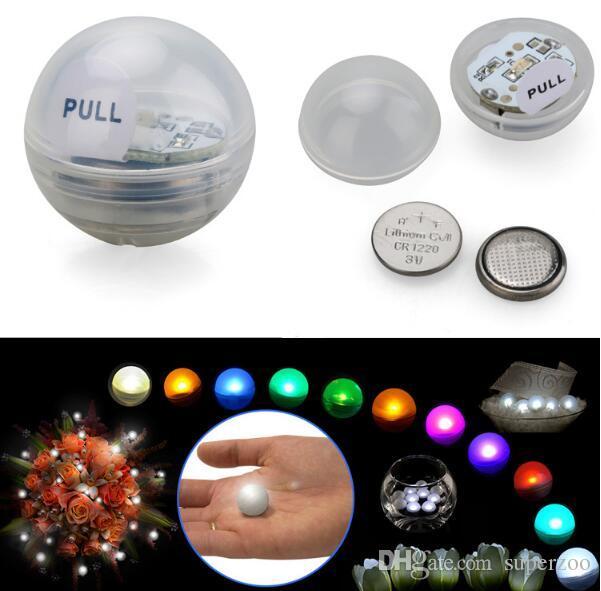 LED leuchtet Ball in Bongs Unterwasser Tauch wasserdicht elektronische Sub Teelichter Weihnachten Hochzeit Floating