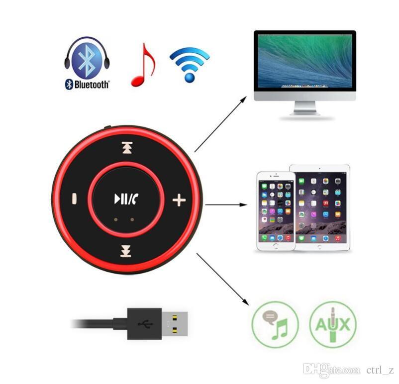 AD-A26 Mini Wireless Auto Bluetooth Empfänger AUX Musik Stereo Audio Adapter 3,5mm Aux-Buchse für Kopfhörer Lautsprecher 3 Farben