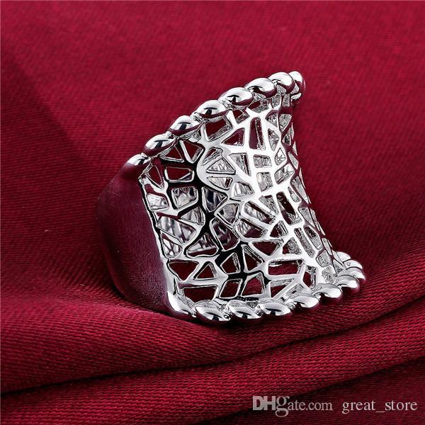 925 Silberringe Ziehen Hohl freies Schiff GSSR542 Fabrik Direct Sale Sale Marke Mode Sterling Überzogene Silber Fingerring