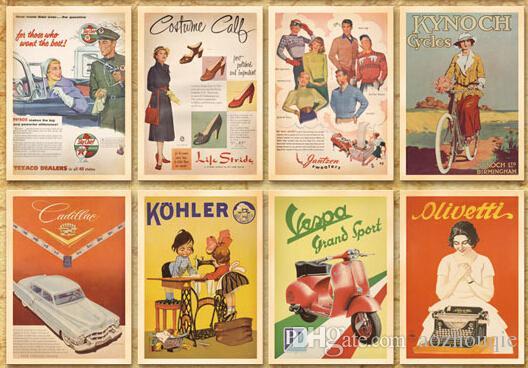 Nuovo lotto caldo all'ingrosso di 32 cartoline della cartolina della cartolina dell'annata che annunciano la storia Retro trasporto libero