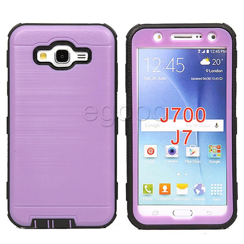 Híbrido escovado dupla em camadas à prova de choque armadura telefone case com tela de filme para htc desire 626 530 630 650 pixel googel lg g5 g6 v20 v30 k7 k8