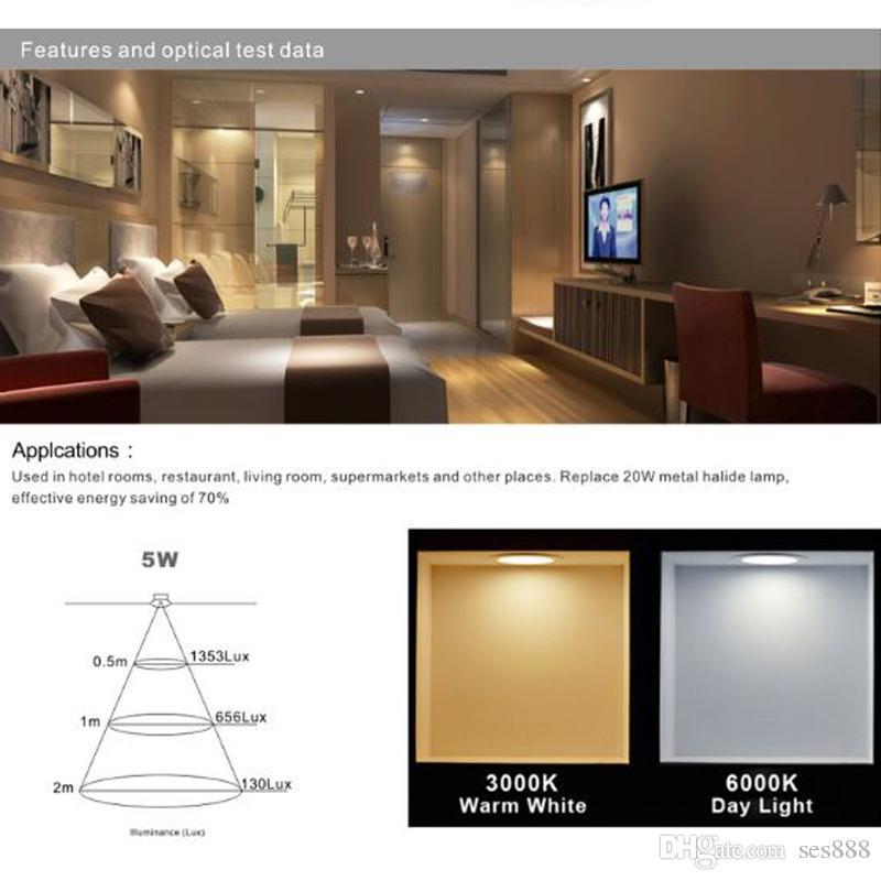 DIMMABLE E14 E27 GU10 GU5.3 MR16 5W AC85-265V LED Lamp Bulb Energy Saving Lamp Energy Saving Bulb Spotlight Coldwhite Naturalwhite Warmwhite