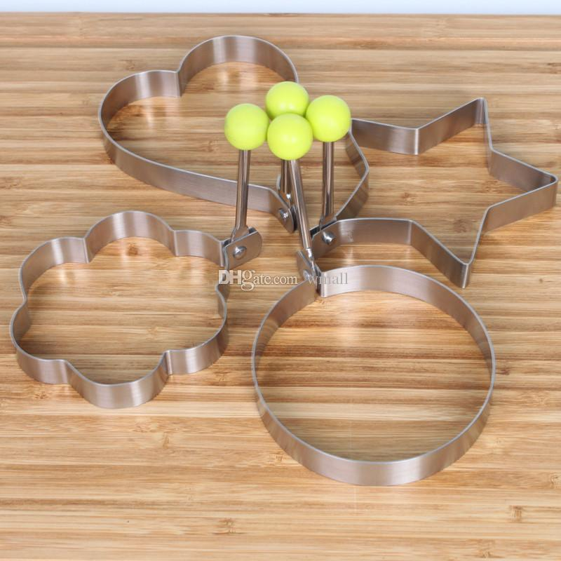 Cook Fried Egg Pancake &rings Stainless Steel Heart Shaper Mould Mold Kitchen Tool with high quality optional