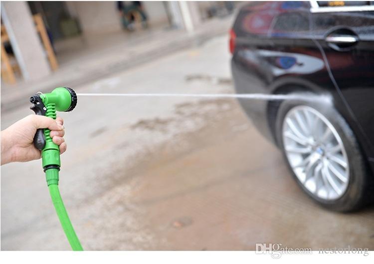Heißer verkaufender erweiterbarer magischer flexibler Garten-25FTschlauch für Auto-Wasserrohr-Plastikschläuche zum Bewässerung mit Sprühpistole-Grün