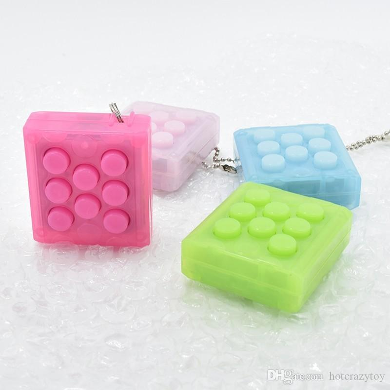 2017 Newest Original Mugen Puchi Puchi Speaker Key chain Puti Puti bubble wrap key ring Vent Decompress Electric Press speaker Sound gadgets