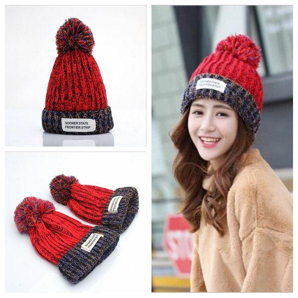 91af80ee011 Autumn Winter Hat Women Cotton Beanies Cap Pom Pom Ball Knitted Wool Warm  Girls Hats Bonnet Gorros YYA592 Cute Beanies Red Beanie From  Ljj sunglasses