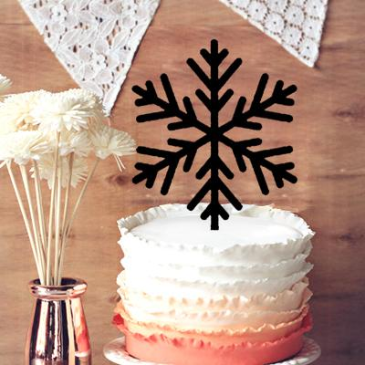 2018 Snowflake Cake Toppers, Holiday Wedding Cake Toppers, Elegant ...