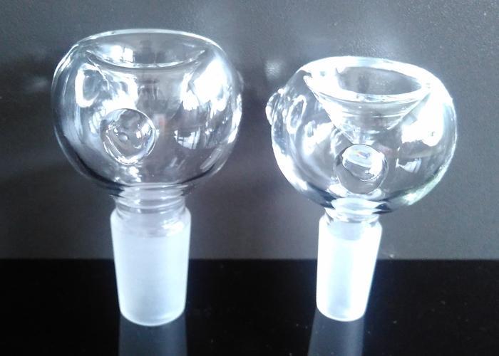 4 estilos Masculino e Feminino tigela de vidro 14mm 18mm de vidro bong joint 14.4mm 18.8mm cúpula de vidro frete grátis