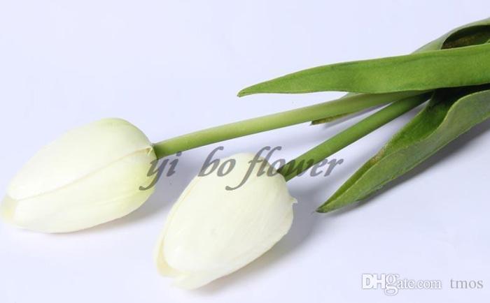 Latex tulipas Artificial PU buquê de flores de toque real flores para a decoração Home Flores decorativas do casamento 11 Cores Opção