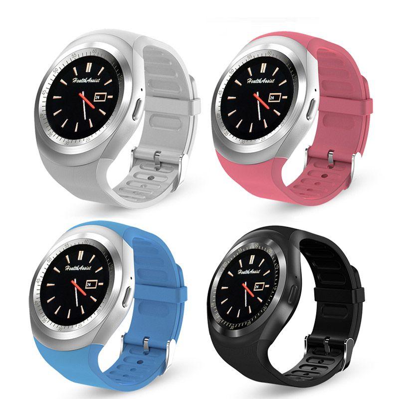 2018 heißer Bluetooth Smartwatch-runder Touch Screen SIM-Karten-Sport-Armbanduhr für IOS Android mit Kleinkasten