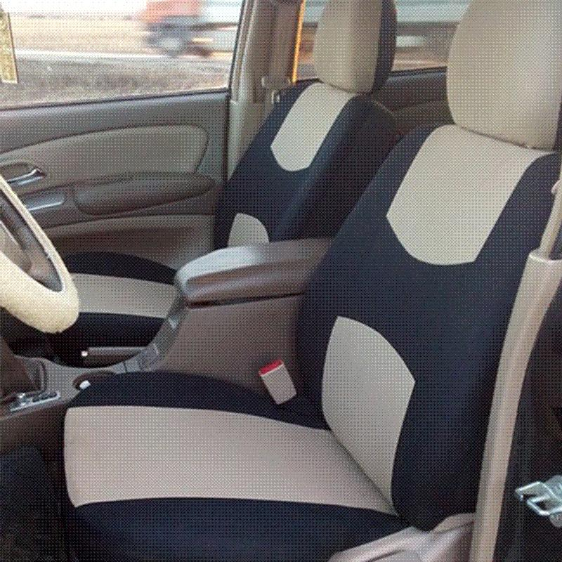 Full Set Car Seat Covers Universal Fit Protectors High Quality Auto Interior Accessories Decoration Beige Black Rear Protector