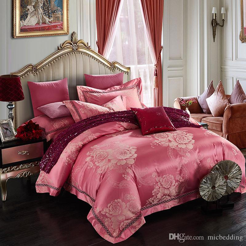 cotton tribute jacquard fabric flat sheet bedding set four pieces set home textile 0.59-0.71inch bed and 0.71-0.78inch bed wenyalinfe