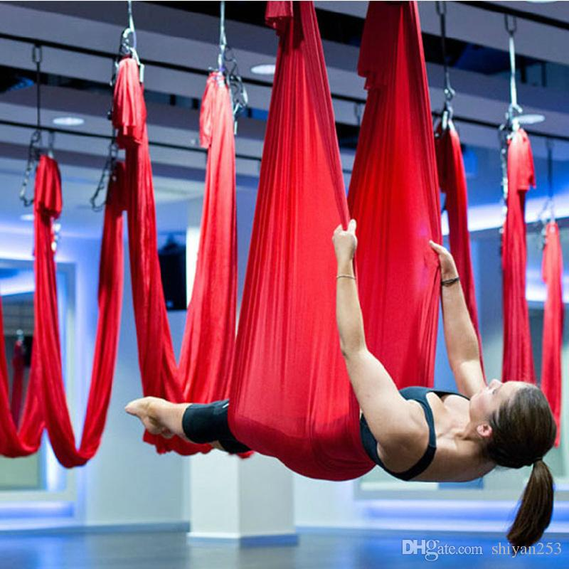 2017 Flying Yoga Swing Anti Gravity Yoga Hammock 5m Professional Yoga Train  Resistance Bands Yoga Hammock Swing Bed Training Yoga Belts Indoor From ... - 2017 Flying Yoga Swing Anti Gravity Yoga Hammock 5m Professional