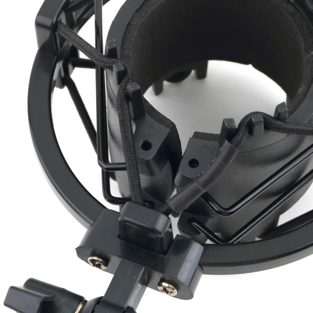 أسود / SilverT2 3 كيلوجرام الحمل محتمل ميكروفون ميكروفون صدمة جبل كليب حامل حامل راديو ستوديو تسجيل الصوت قوس المهنية 43-50 ملليمتر