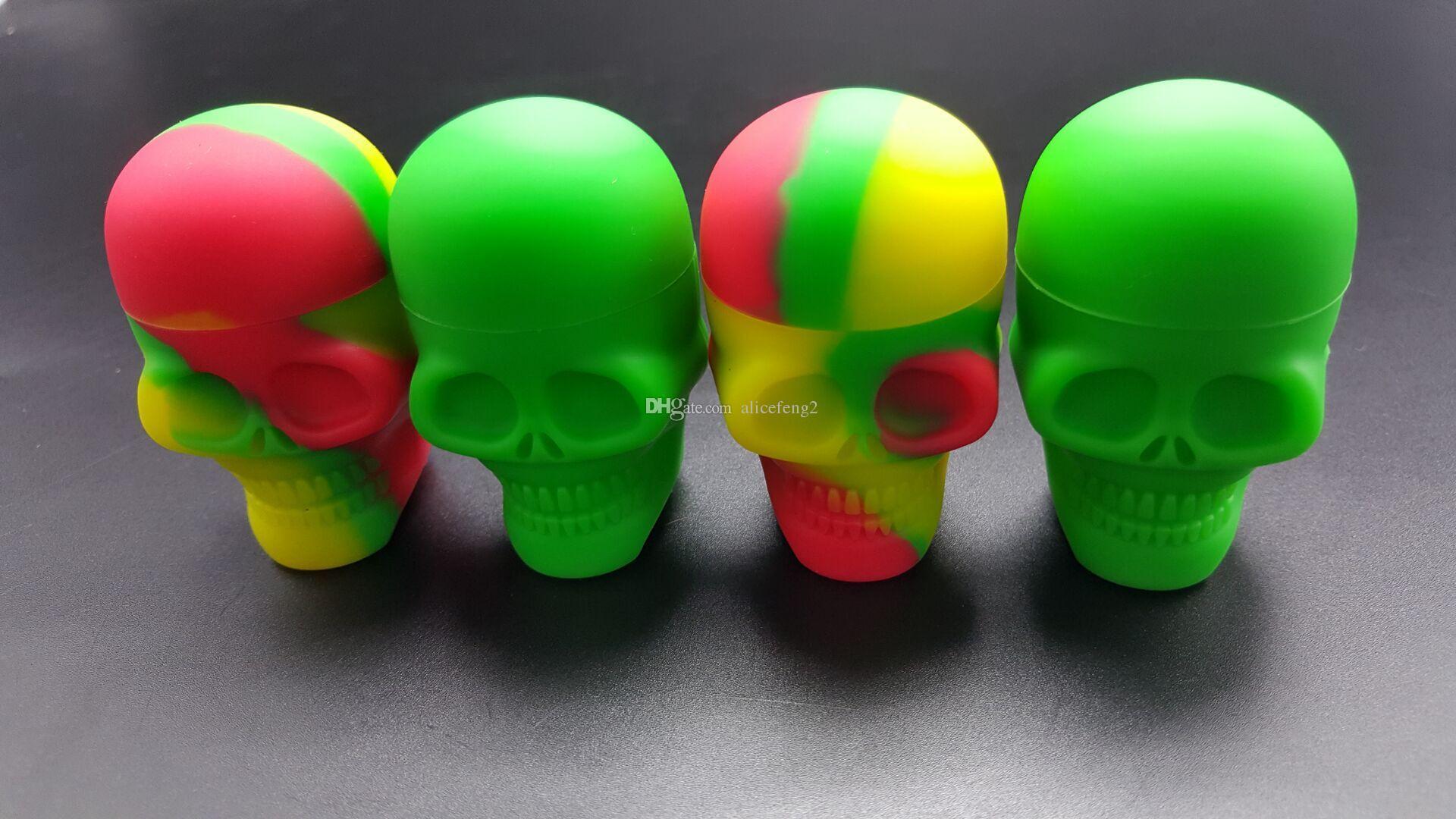 Spedizione gratuita!! Contenitore in silicone antiaderente con tappo a vite Skull Togliere il ghiaccio dai contenitori appiccicosi