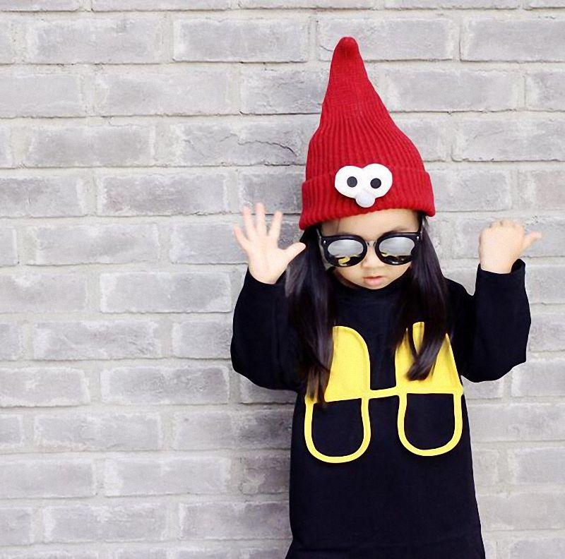 Cartoon Fairy Children Hats Cute Big Eyes Winter Warm Wool Kids Caps Fashion Accessories Christmas Hat Gift DA003