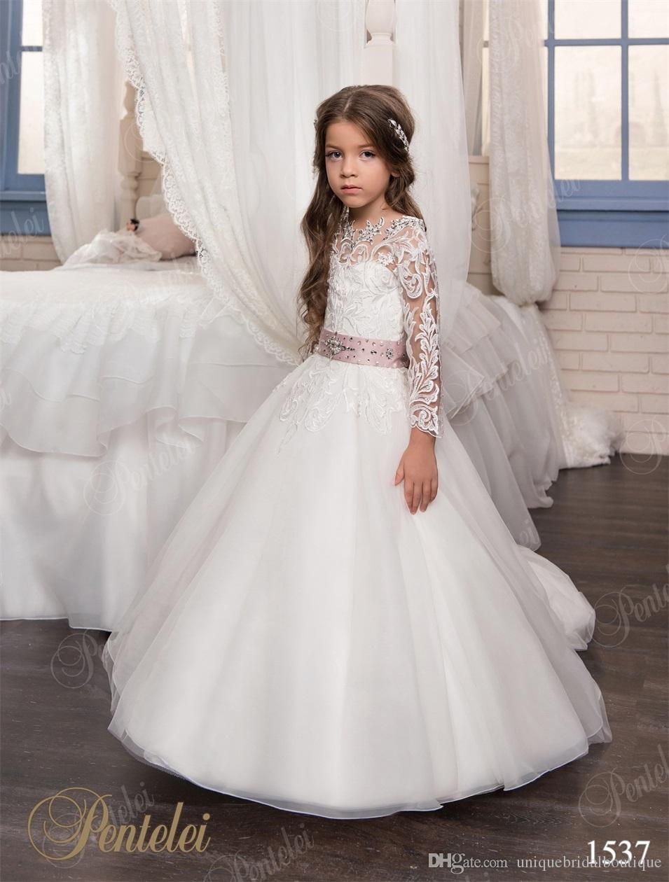 Communion Dresses For Girls 2017 Pentelei With Long Sleeves And ...