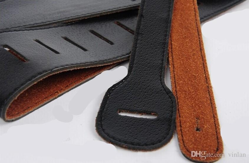 Cinghia chitarra nera chitarra acustica elettrica Cinghia basso elettrico parti di chitarra strumenti musicali accessori