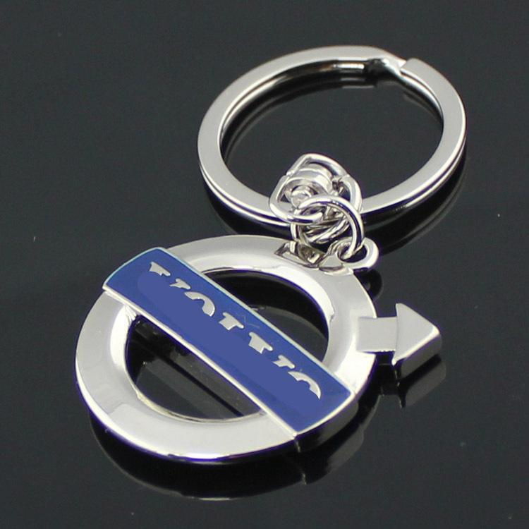 High Quality 2pcs Stainless Steel For Volvo S60 S60l V60: 2019 Stainless Steel Volvo Key Rings With Emblem Logo High