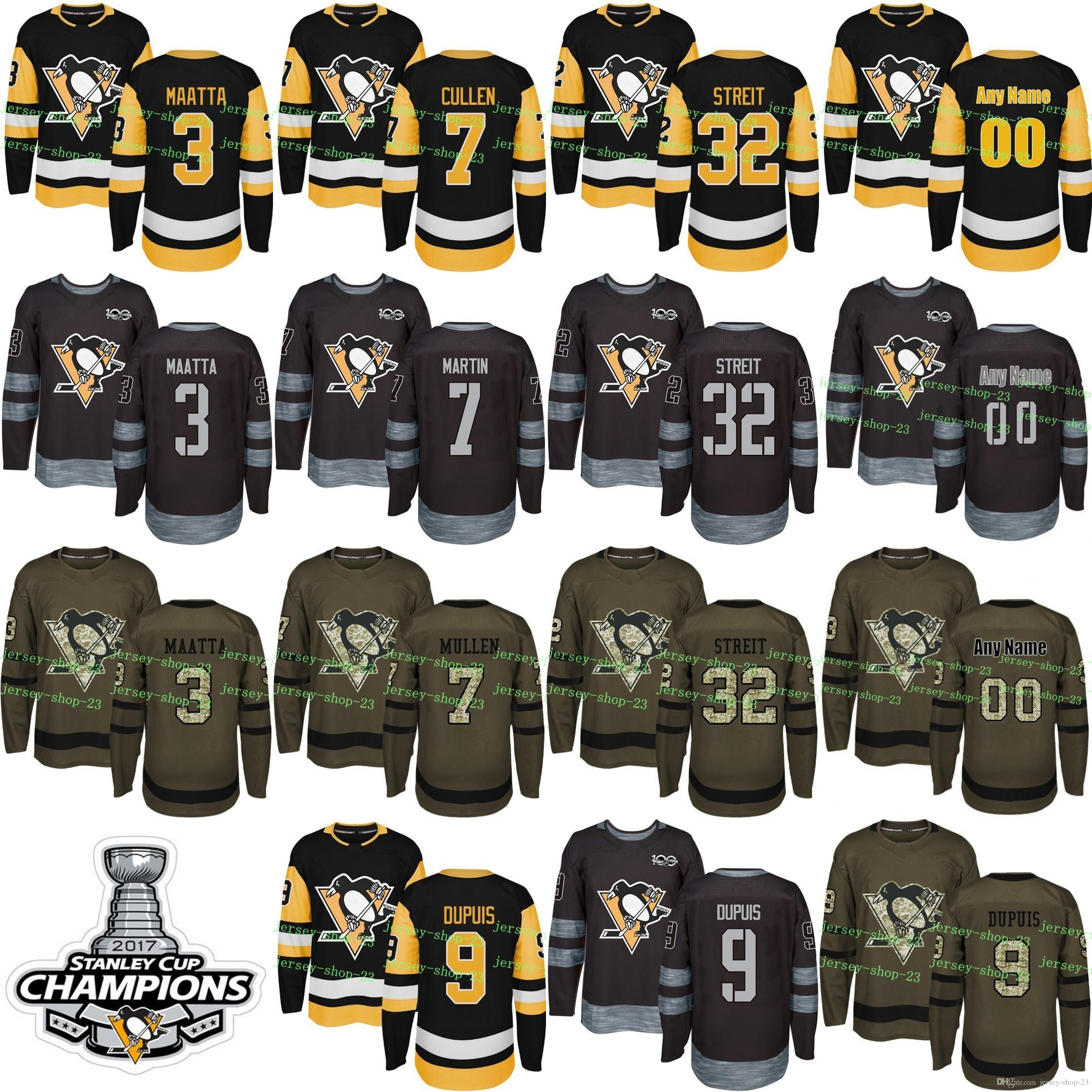 2019 Custom Mens Womens Kids 2017 2018 New Logo Pittsburgh Penguins 3 Olli  Maatta 7 Matt Cullen 9 Pascal Dupuis 32 Mark Streit Hockey Jerseys From  Jersey ... 052a59c08