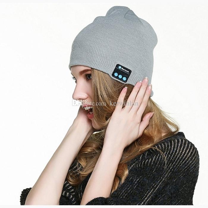 블루투스 헤드셋 무선 블루투스 모자 음악 Beanie Hat 스테레오 스피커 헤드폰 마이크로폰 핸즈프리 전화 음악 수신 허용