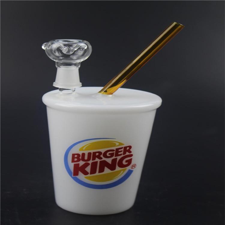 14.5mm Water Pipes Starbucks Cup Glass Bongs Dab Rigs and Oil Rigs Glass Bongs Hookah Shisha