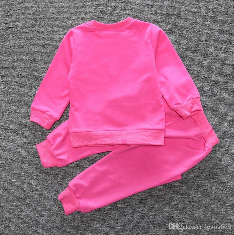 Vendita al dettaglio nuova primavera autunno abbigliamento bambini vestiti girasole bambini con cappuccio + pantaloni tuta bambini ragazzi vestiti set G949