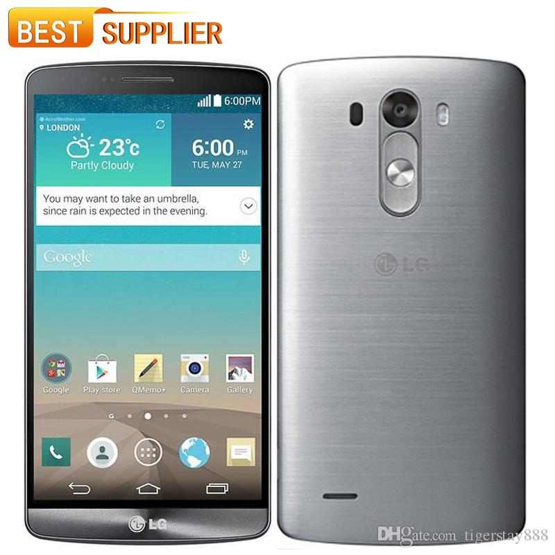 LG G3 D850 D855 D851 Cell Phone GSM 3G4G Android Quad Core RAM 3GB 2GB 55 13MP Camera WIFI GPS 16GB Mobile Free Ship Second Hand Phones Used