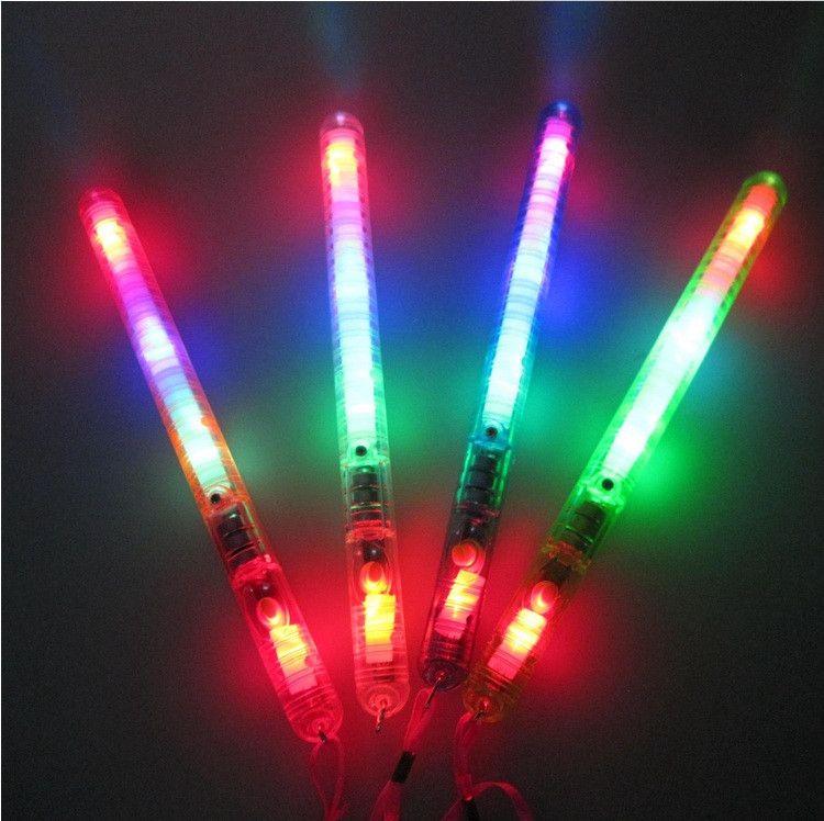 Nova varinha fluorescente Colorida transparente LED Flashing Glow Light wand Festa de Aniversário de Natal festival novidade brinquedos IA629