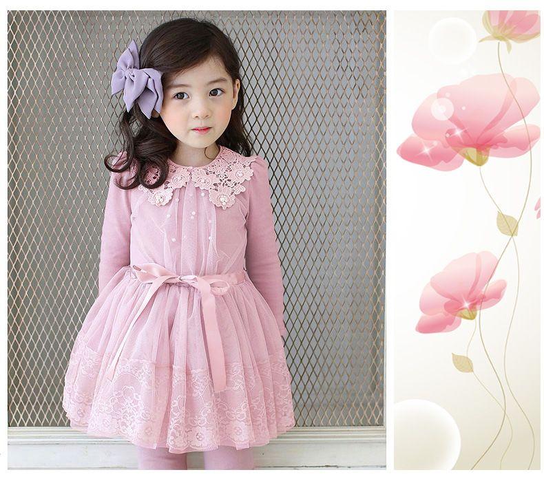 Kids Formal Lace Baby Girl Wedding Dress Princess Bridesmaid Flower