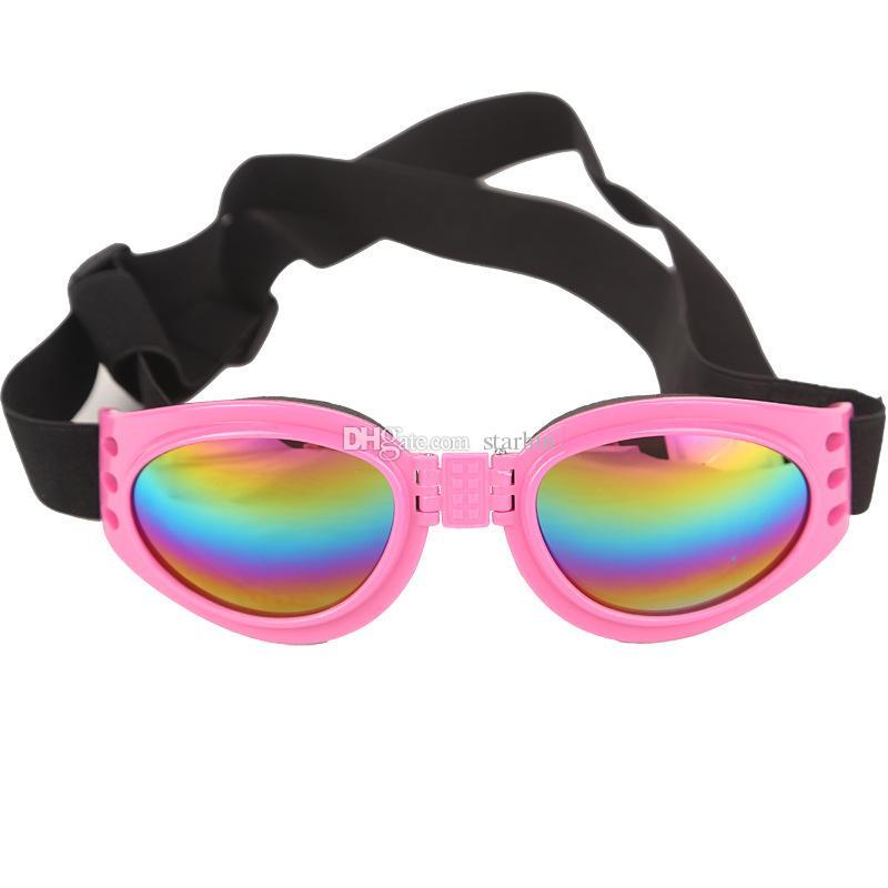 Köpek Gözlük Moda Katlanabilir Güneş Gözlüğü Orta Büyük Köpek Gözlük Büyük Pet Su Geçirmez Gözlük Koruma Gözlük UV Güneş Gözlüğü WX-G14
