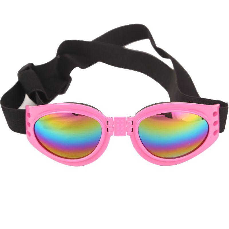New Dog Glasses Fashion Foldable Sunglasses Medium Large Dog Glasses Big Pet Waterproof Eyewear Protection Goggles UV Sunglasses WX-G14