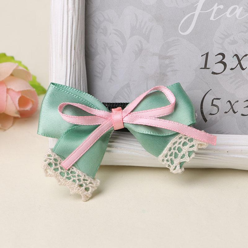 Pet/Children hair bow ribbon material small wholesale Dog hair clip pet hairpin Dog accessories